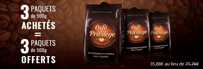 Café en Grains pur arabica 3 kg