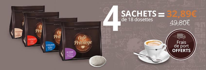 Café Privilège Dosettes  P (10x125g)