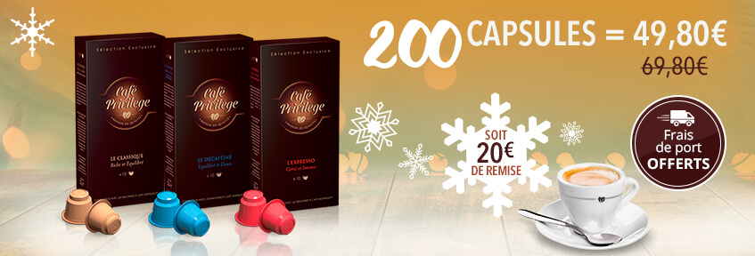 20 Capsules Café Privilège panachage