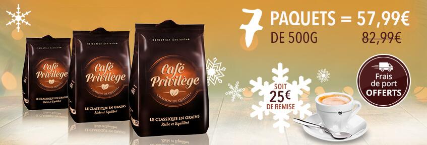 Café Privilège Grains 3.5kg (7 x 500 g)