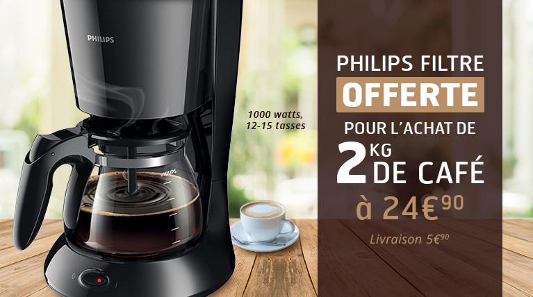 L'offre Philips filtre by Café Privilège