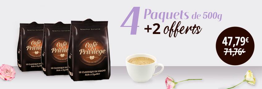 Exclu Web Café Grains 4+2 offerts