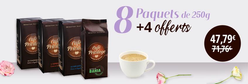 Exclu Web Café Moulu 8+4 offerts