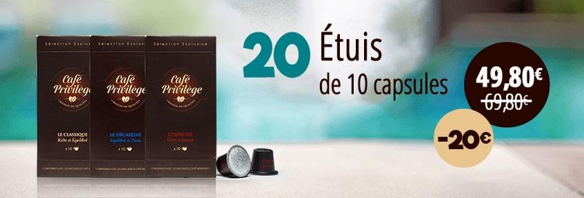 Exclu Web Café Capsules pack 200 -20E