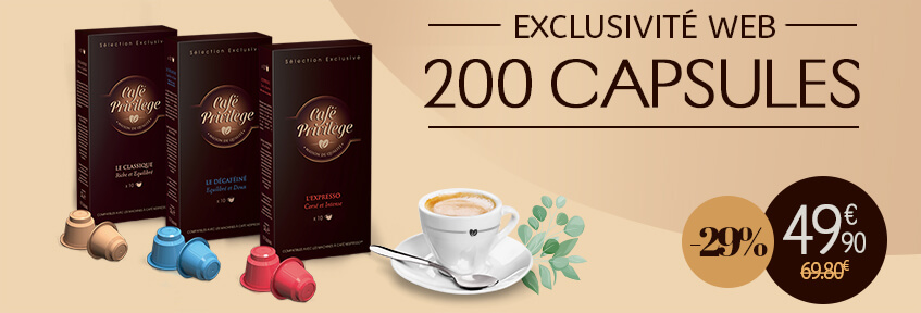 Exclu Web 200 Café Capsules 200 -29%