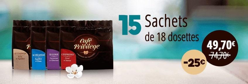 Exclu Web Café Dosettes pack 270 -25E