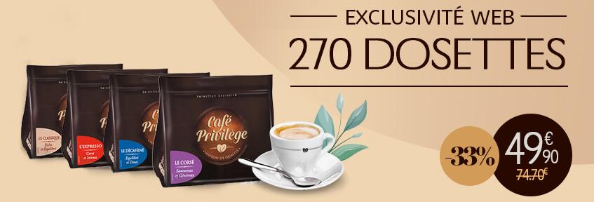 Exclu Web Café Dosettes 170 -33%