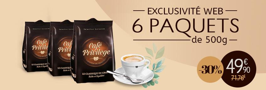 Exclu Web Café Grains pack 6 -30%