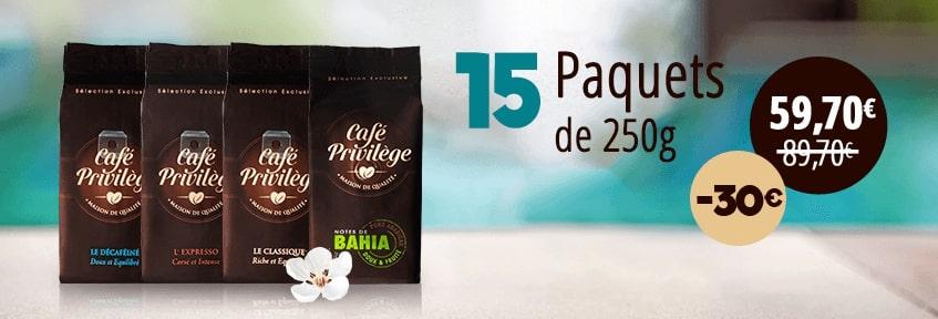 Exclu web Café Moulu pack 15 -30E